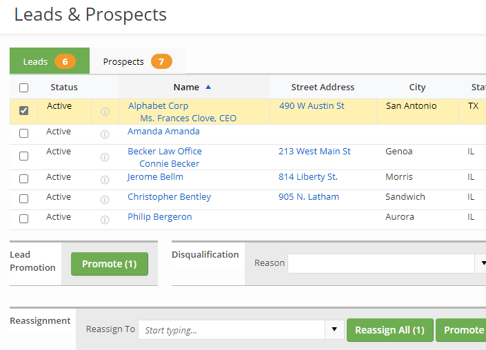 FI Works Leads and prospects