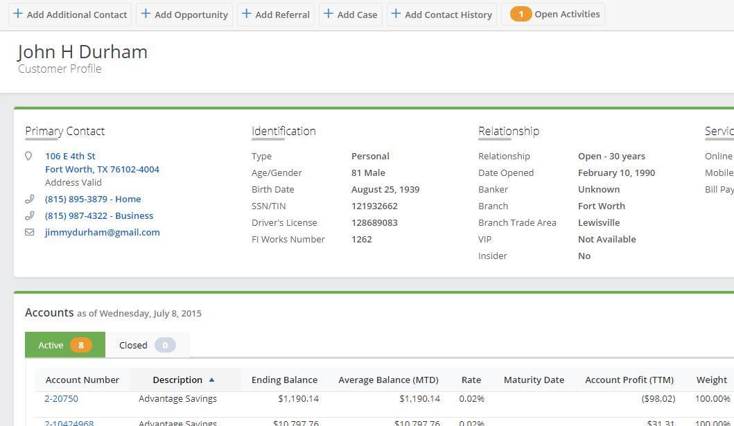 FI Works Customer Profile